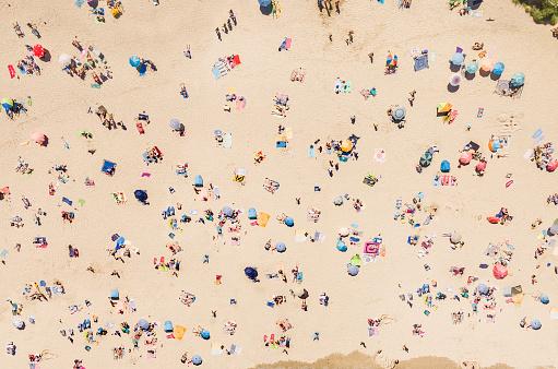 人物「ビーチの空撮」:スマホ壁紙(11)