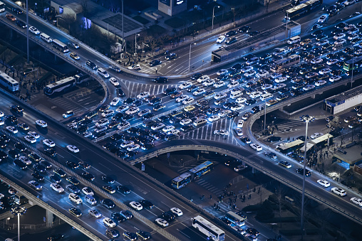 Chaos「Aerial View of Beijing Traffic Jam」:スマホ壁紙(18)