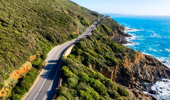 Rock Music「Aerial view of coastal road in Tuscany, Italy」:スマホ壁紙(6)