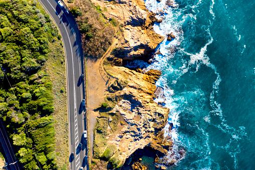 Rock Music「Aerial view of coastal road in Tuscany, Italy」:スマホ壁紙(15)
