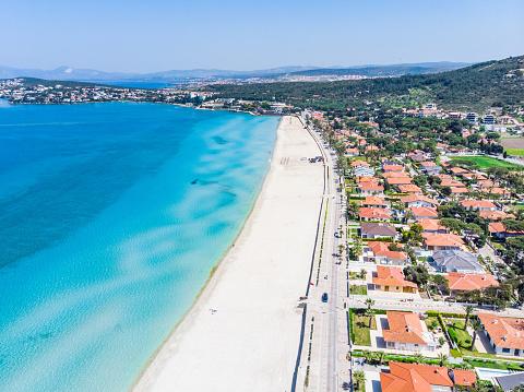 Izmir「Aerial view of Ilica Beach, Cesme - Izmir」:スマホ壁紙(1)