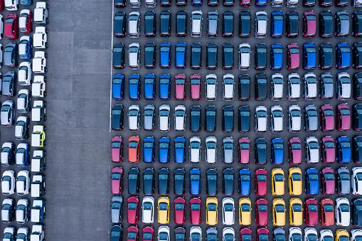 Van - Vehicle「Aerial View of parking」:スマホ壁紙(9)