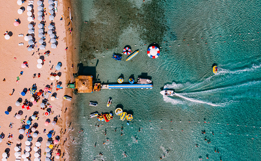 Izmir「Aerial View Altinkum Beach at Turkey」:スマホ壁紙(16)