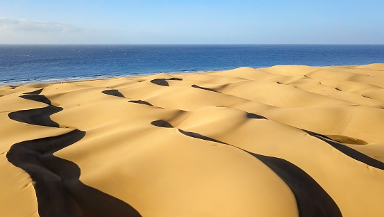 Canary「Aerial view of Maspalomas sand dunes, Gran Canaria, Canary islands, Spain」:スマホ壁紙(13)