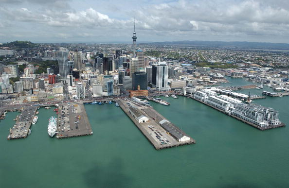 Scenics - Nature「Aerial View. Auckland Harbour and the CBD.」:写真・画像(2)[壁紙.com]