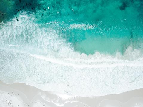 Tranquility「Aerial View of Waves Crashing on Sandy Beach」:スマホ壁紙(0)