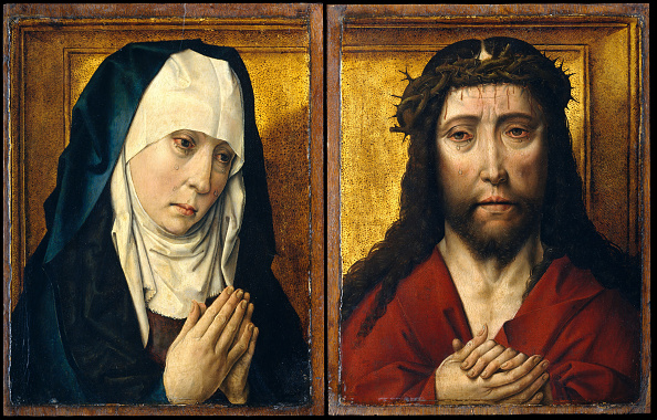 Virgin Mary「The Mourning Virgin; The Man Of Sorrows. Creator: Posthumous Workshop Copy After Dieric Bouts (Netherlandish」:写真・画像(4)[壁紙.com]