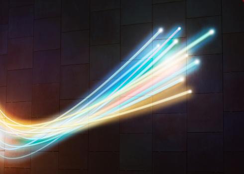 Light Trail「Fibre optics close up」:スマホ壁紙(6)