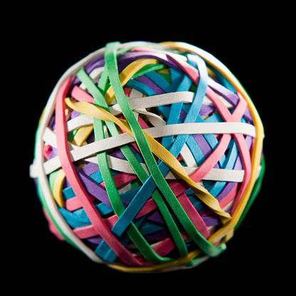 Flexibility「Ball of colorful rubber bands」:スマホ壁紙(10)