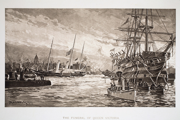 Passenger Craft「The Funeral Of Queen Victoria' Portsmouth 1st February 1901」:写真・画像(6)[壁紙.com]