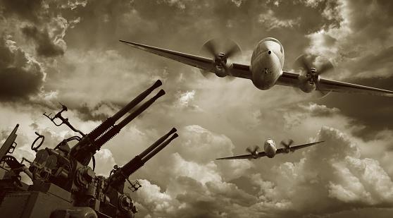 Aggression「Flying Military Airplanes and Machine Guns」:スマホ壁紙(2)