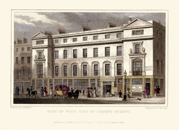 Regency Style「London Views:  Part of West Side of Regent Street」:写真・画像(10)[壁紙.com]
