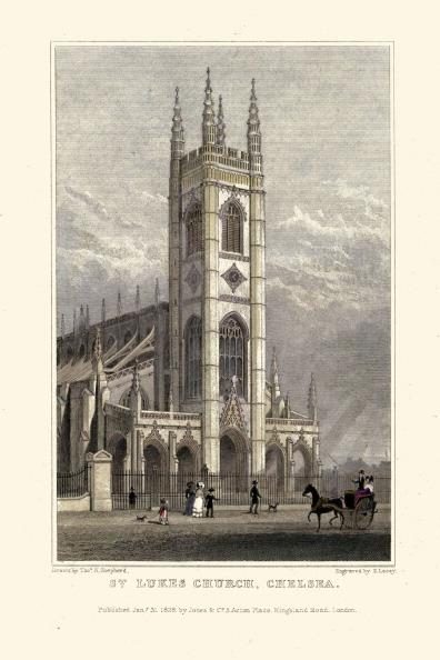 Regency Style「London Views:  St. Lukes Church, Chelsea」:写真・画像(9)[壁紙.com]