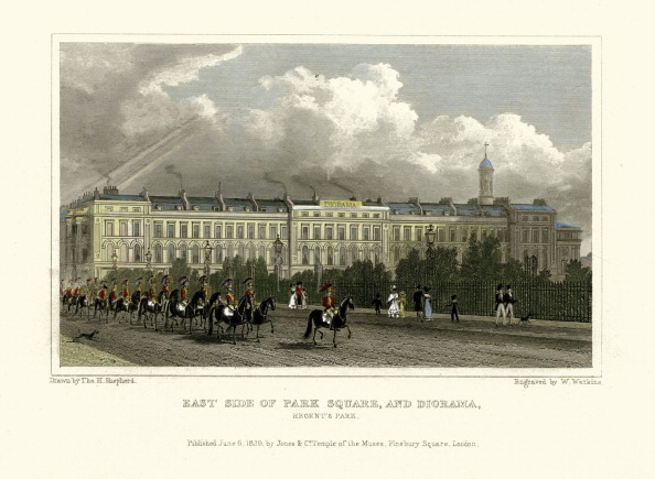 Regency Style「London Views:  East Side of Park Square and Diorama.」:写真・画像(7)[壁紙.com]