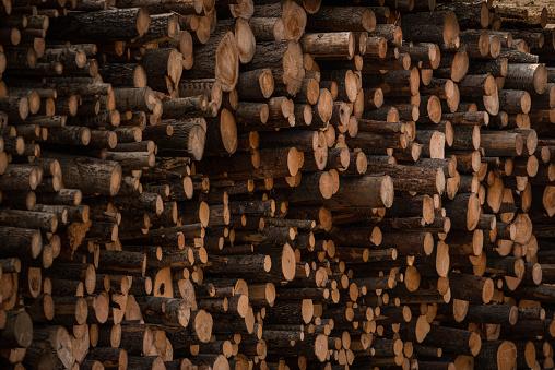 Log「Timber stack」:スマホ壁紙(2)