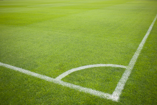 Stadium「Corner Kick at Soccer Field during Soccer Game」:スマホ壁紙(16)