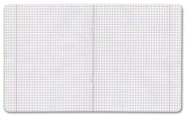 Exercise book on white background, clipping path:スマホ壁紙(壁紙.com)