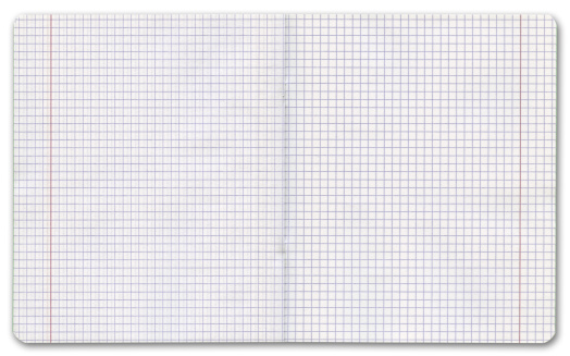 Square - Composition「Exercise book on white background, clipping path」:スマホ壁紙(11)