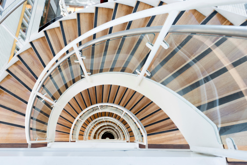 Moving Up「Abstract Spiral staircase」:スマホ壁紙(10)