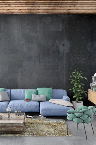 Studio Apartment「Modern Nordic living room interior with sofa and lots of details」:スマホ壁紙(9)