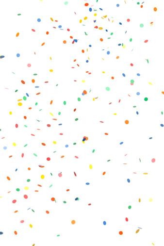Falling「Falling Round Paper Confetti on White」:スマホ壁紙(12)