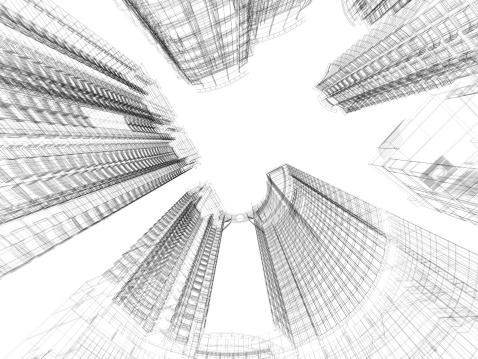 Perks「Skyscraper Architecture Blueprint」:スマホ壁紙(7)