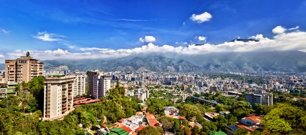 Venezuela「Eastern Caracas city aerial view at early morning」:スマホ壁紙(16)