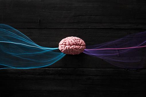 Deep Learning「Brain and light waves symbolizing data flow」:スマホ壁紙(16)