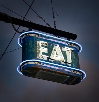 Eating「Neon EAT Sign」:スマホ壁紙(3)