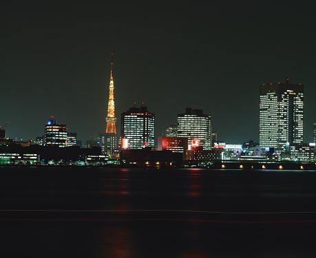 Tokyo Tower「Tokyo skyline at night」:スマホ壁紙(4)