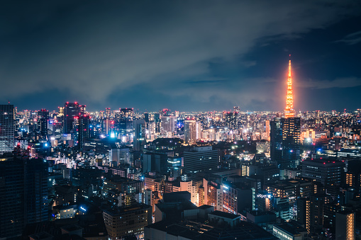 Tokyo Tower「Tokyo Skyline at Night」:スマホ壁紙(8)