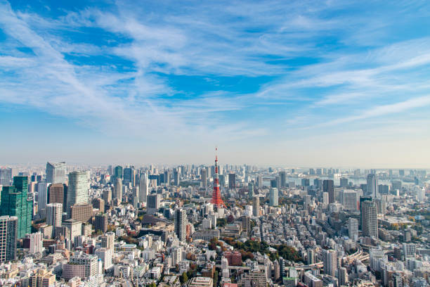Tokyo skyline:スマホ壁紙(壁紙.com)