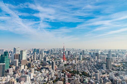Tokyo Tower「Tokyo skyline」:スマホ壁紙(5)