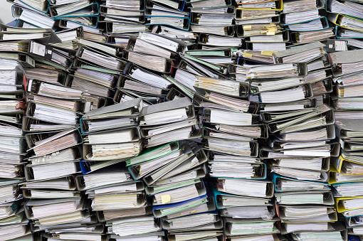 Stack「Pile of office files」:スマホ壁紙(5)