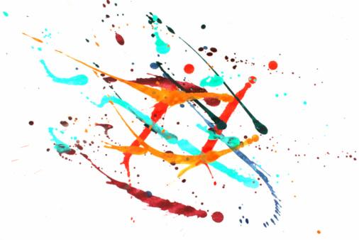 Art And Craft「Colorful paint splash」:スマホ壁紙(12)