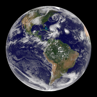 Extreme Weather「Full Earth showing four storm systems.」:スマホ壁紙(14)