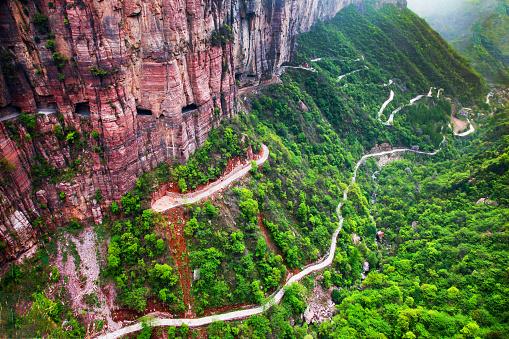 Hairpin Curve「Henan taihang guoliang village scenery」:スマホ壁紙(15)