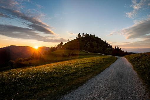Fairy「The Sv. Jakob hill in the Polhov Gradec Hill Range near Ljubljana.Slovenia stock」:スマホ壁紙(1)