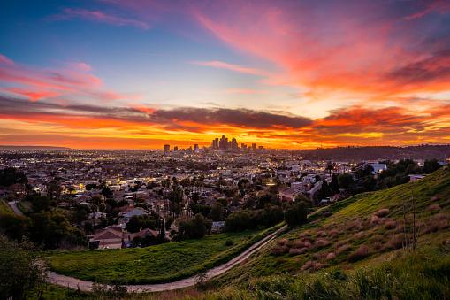 City Of Los Angeles「Dramatic sunset in Los Angeles」:スマホ壁紙(8)