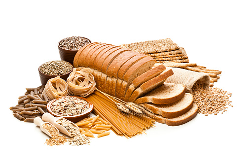 Seed「Wholegrain and dietary fiber food on white background」:スマホ壁紙(2)