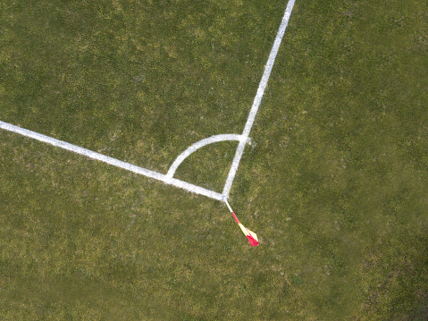 Corner Marking「corner arc, football field, aerial view」:スマホ壁紙(19)