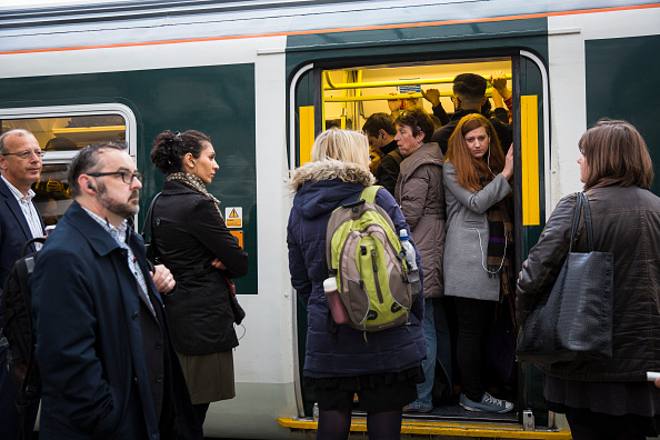 Train - Vehicle「South Coast Commuters Travel In To London On The Second Three-Day Southern Rail Strike」:写真・画像(14)[壁紙.com]