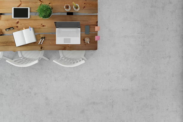 Office desk knolling floor business template copy space:スマホ壁紙(壁紙.com)