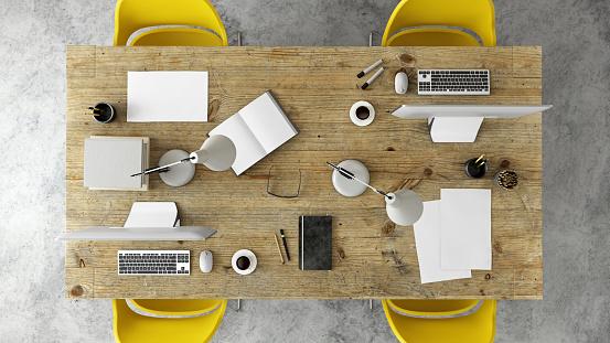 Chaos「Office desk business group knolling」:スマホ壁紙(6)