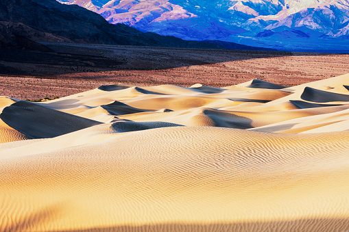 グレープバイン山「Mesquite Sand Dunes with Grapevine Mountains in background, Death Valley, California, USA」:スマホ壁紙(15)