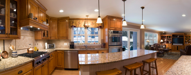 Customized「A 180 degree view of a kitchen and living area」:スマホ壁紙(11)