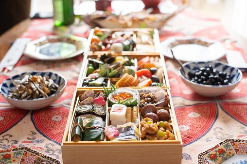 おせち「日本の新年の食べ物」:スマホ壁紙(9)