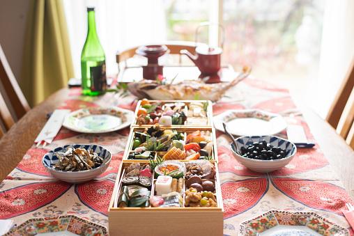 おせち「日本の新年の食べ物」:スマホ壁紙(12)
