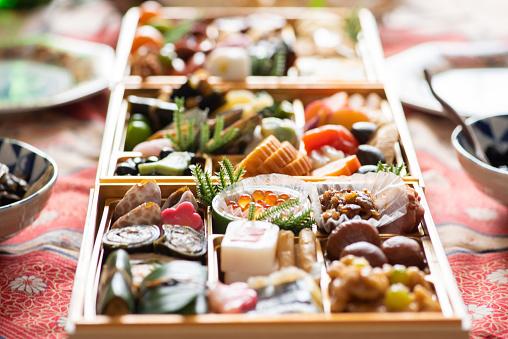 おせち「日本の新年の食べ物」:スマホ壁紙(2)