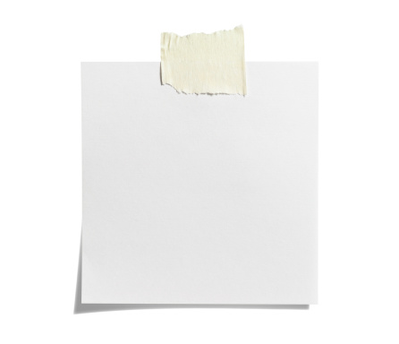 Adhesive Note「White Sticky Note with  Adhesive Tape」:スマホ壁紙(11)